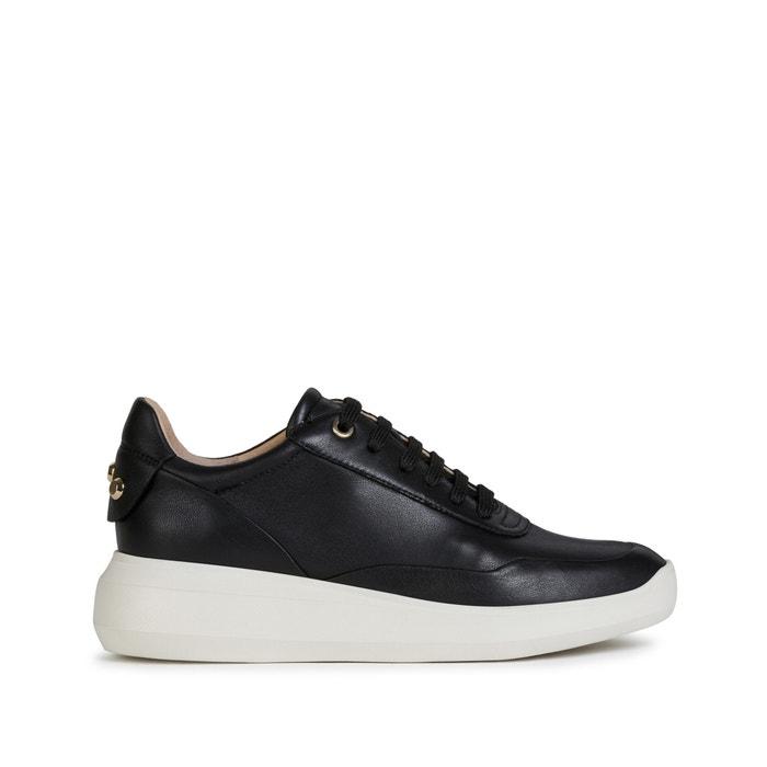 Rubidia leather trainers black Geox | La Redoute