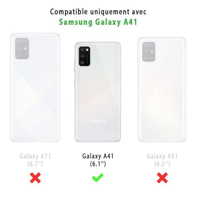 Coque samsung galaxy a41 antichoc silicone 2 vitres en verre ...