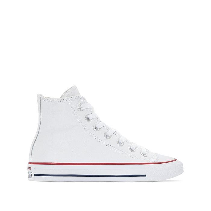 Chuck taylor all star cuir hi blanc Converse | La Redoute