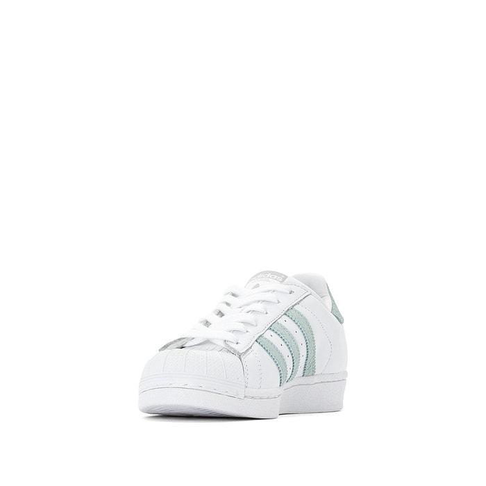 Baskets superstar Adidas Originals blancvert | La Redoute