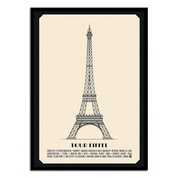 Affiche poster Tour Eiffel réf 22 3 dimensions, papier mat ou papier photo