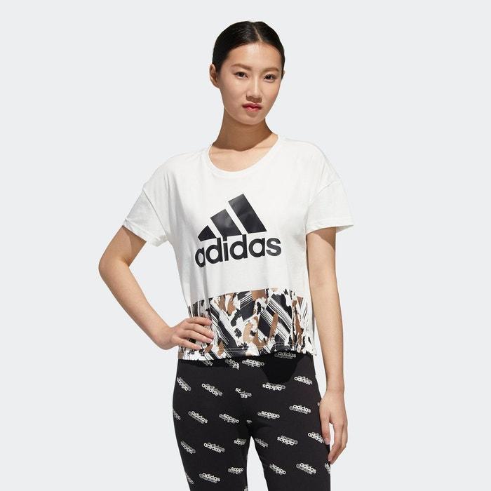 T shirt adidas u4u cropped blanc Adidas Performance | La Redoute