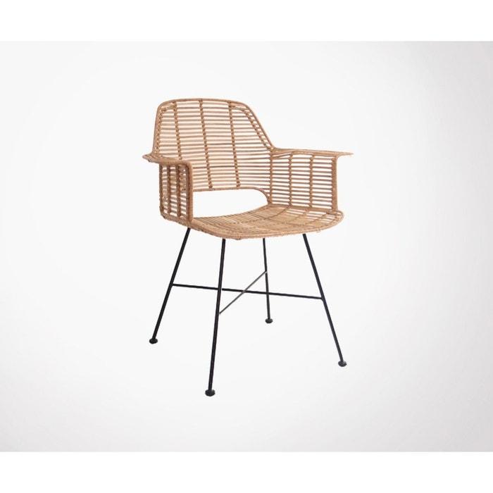 Cariaco fauteuil de table design en rotin Hk Living | La