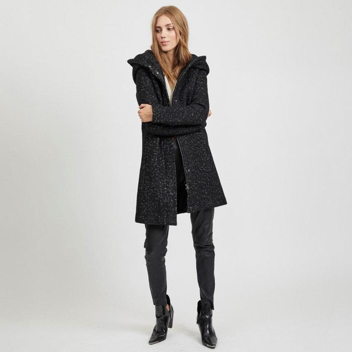 newest 20f87 cb39b Langer mantel mit kapuze schwarz Vila | La Redoute