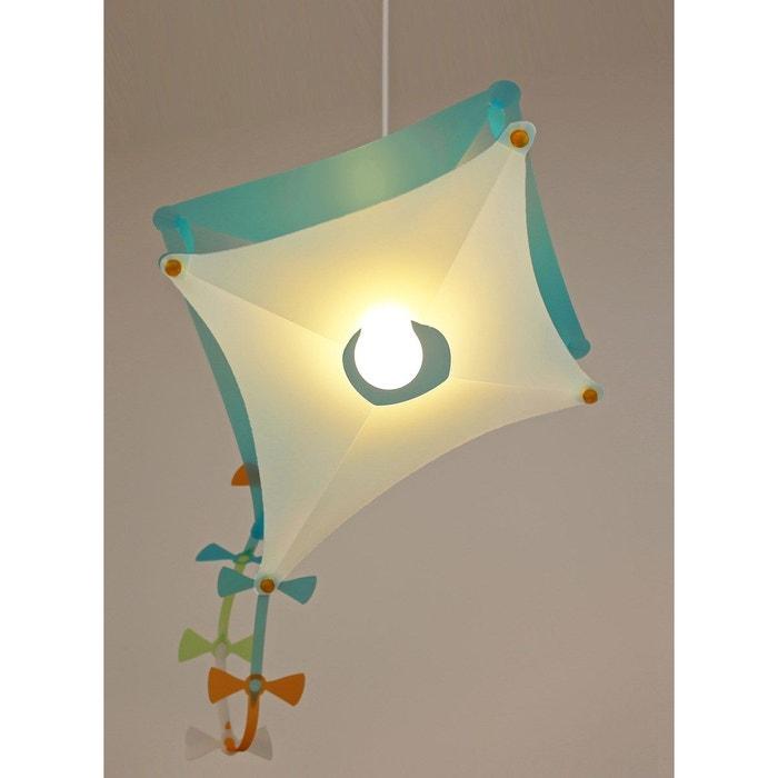 Lampe suspension chambre d\'enfant cerf-volant bleu/turquoise ...