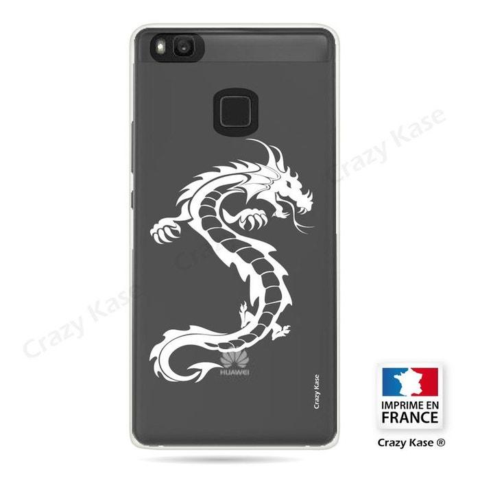 Coque pour Huawei P9 Lite souple Dragon blanc