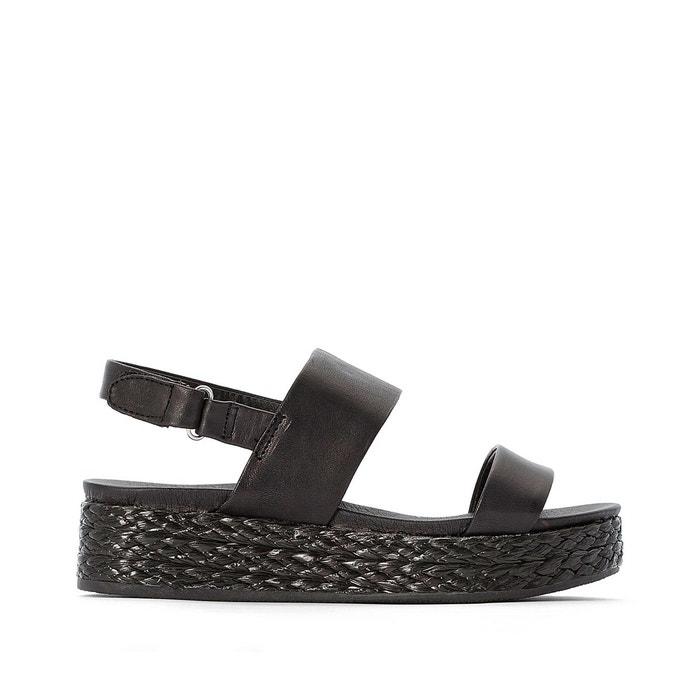 Sandales cuir glade noir Jonak   La Redoute
