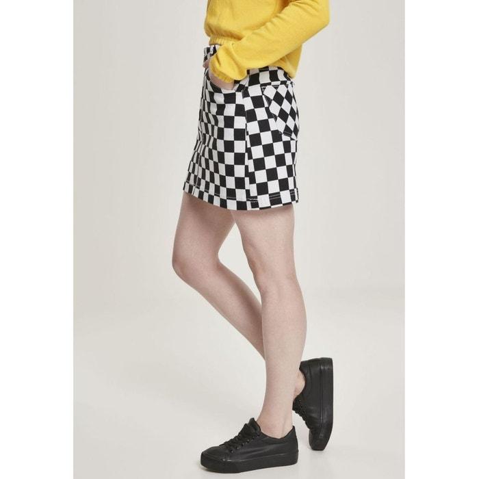 Mini jupe zippée à carreaux noir Urban Classics | La Redoute