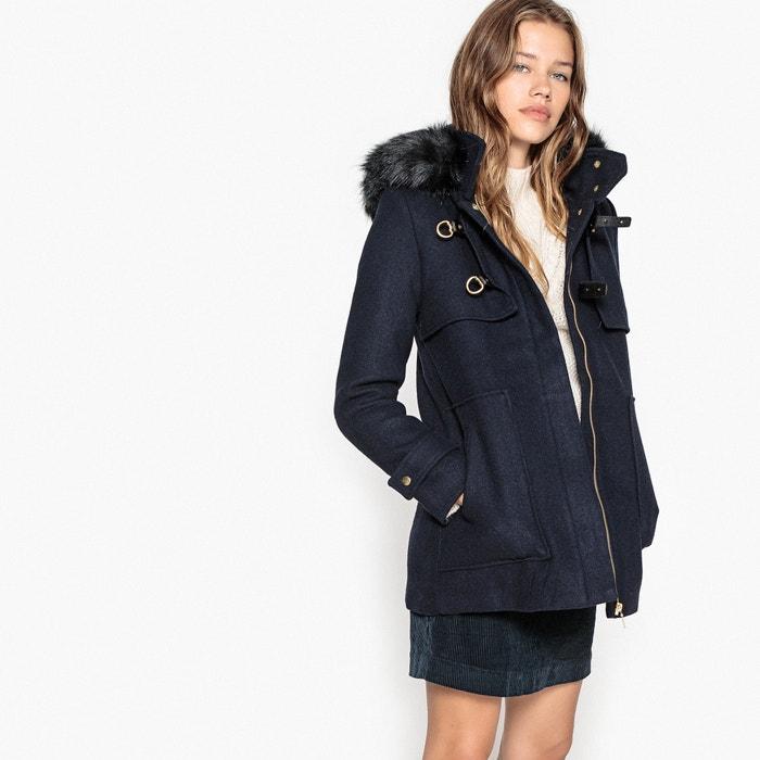 à bas prix à bas prix vente moins chère Wool mix duffle coat with removable faux fur collar La ...