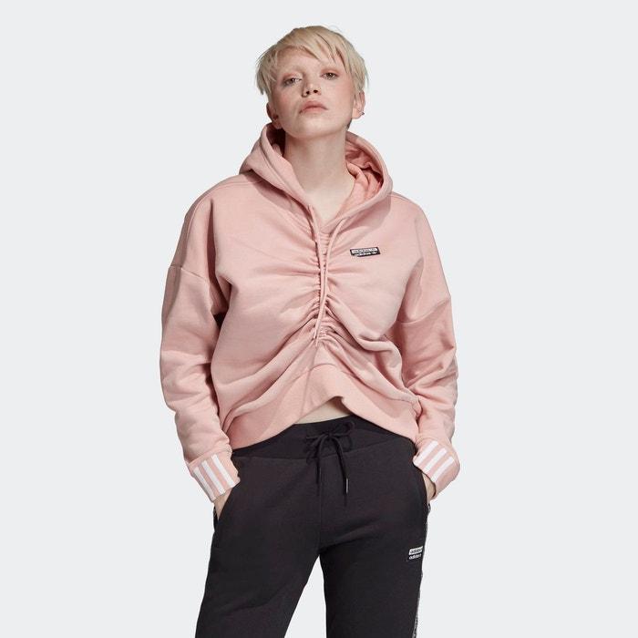 Sweat shirt à capuche ruched. rose Adidas Originals | La Redoute