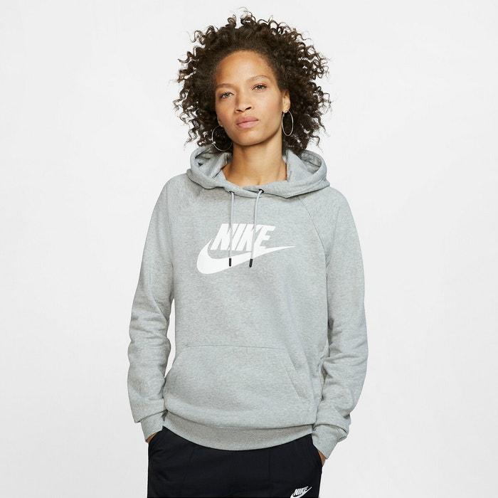 Sweat capuche essential logo Nike gris |