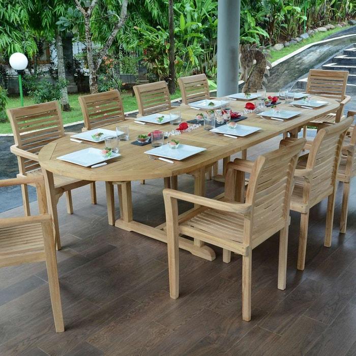 Salon de jardin en teck qualité ecograde venise, 10/12 ...