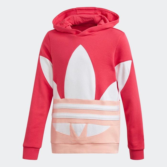 Sweat shirt à capuche large trefoil rose Adidas Originals