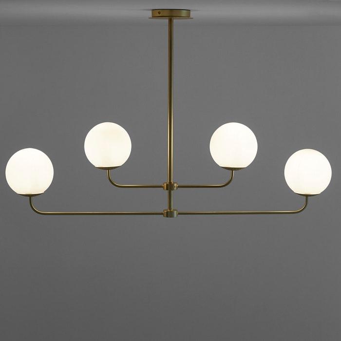 Moricio contemporary ceiling light in metal & opaque glass