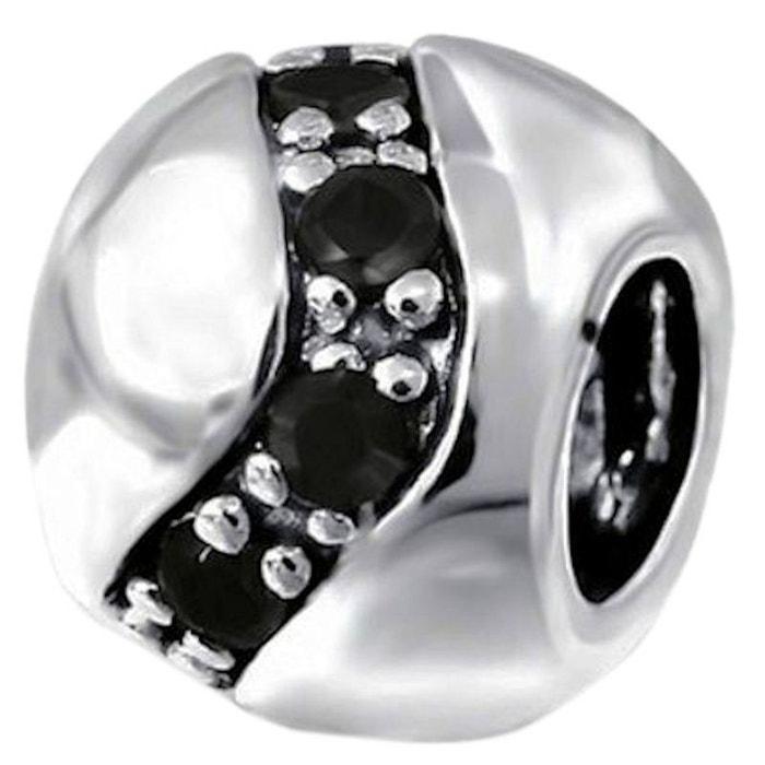 charme pandora argent 925 noir