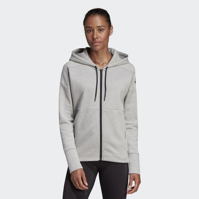 Veste à capuche id stadium gris Adidas Performance | La Redoute
