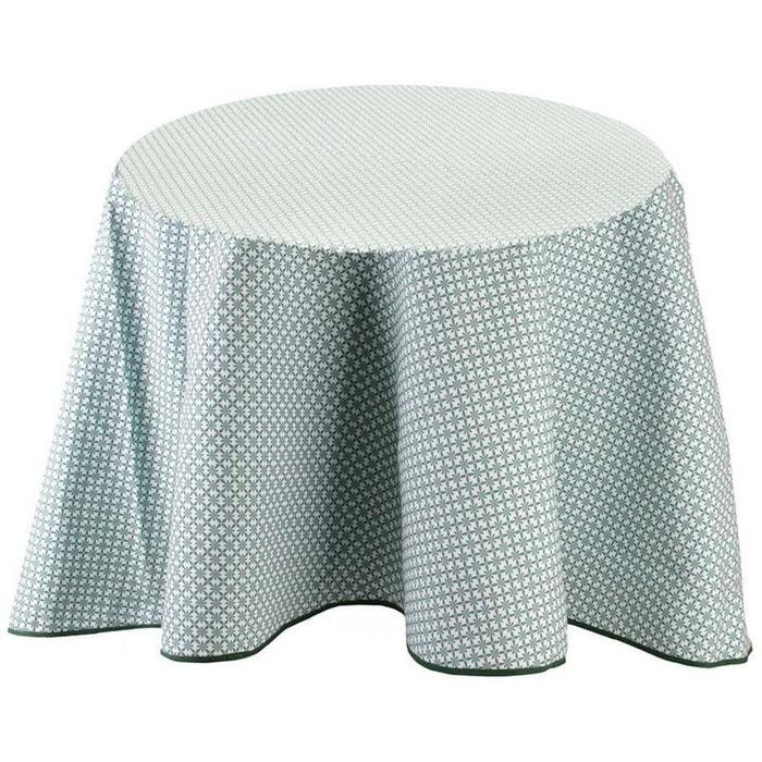 Nappe à motifs pour table ronde 180 cm feuillage vert Cmp ...