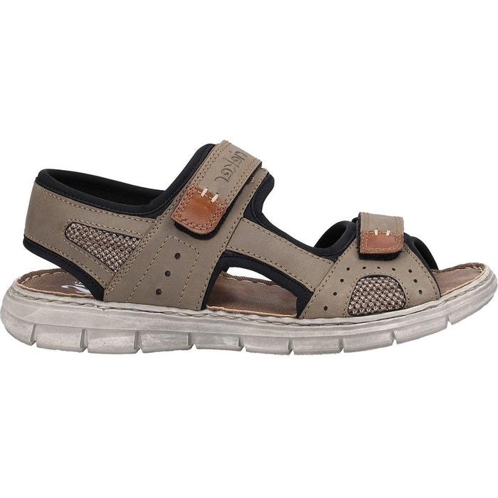 Sandales imitation cuir marron noir Rieker | La Redoute