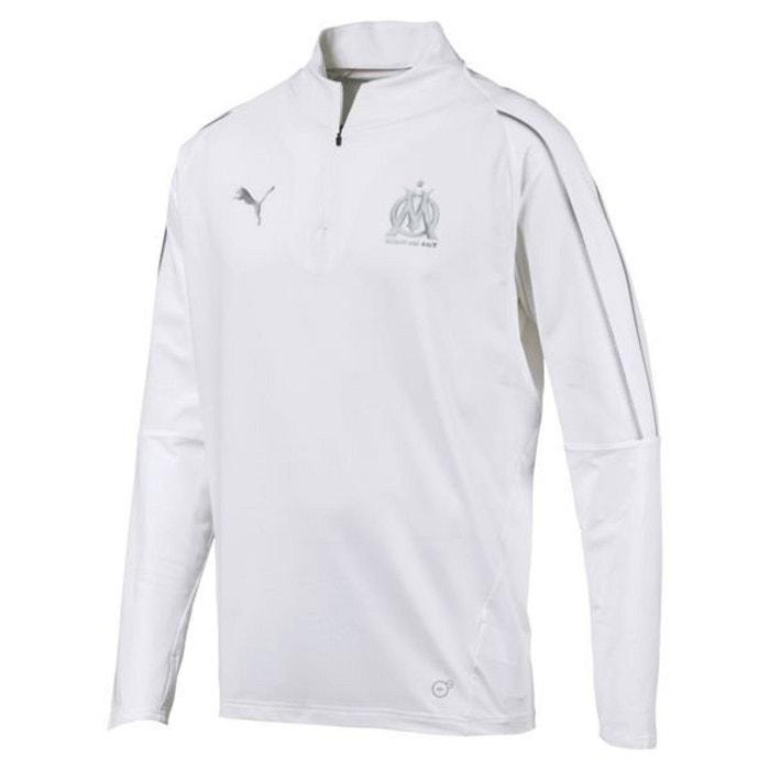cheap sale order stable quality Veste survêtement synthétique om 1/4 zip top blanc Puma | La ...