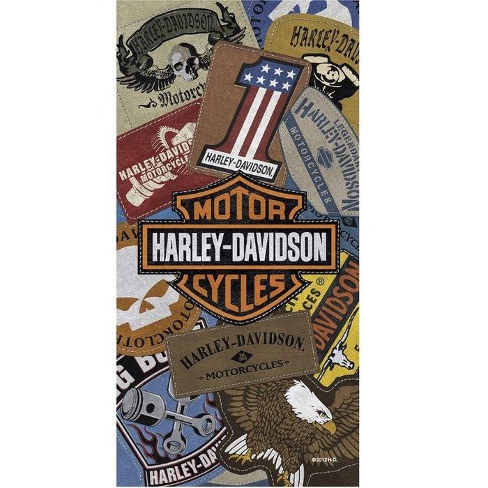 Serviette De Plage Harley Davidson.Drap De Bain Imprime Harley Davidson
