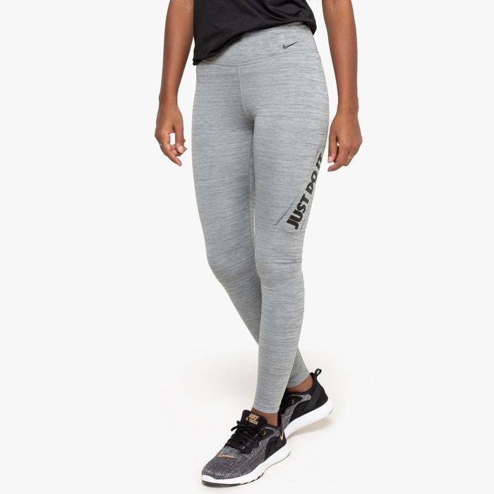 Legging just do it longueur 78 logo cuisse gris foncé Nike