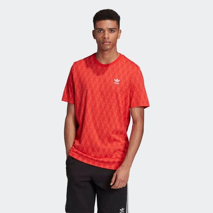 T shirt mono allover print rouge Adidas Originals | La Redoute