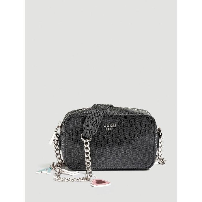 Mini sac bandouliere tabbi imprime noir Guess | La Redoute