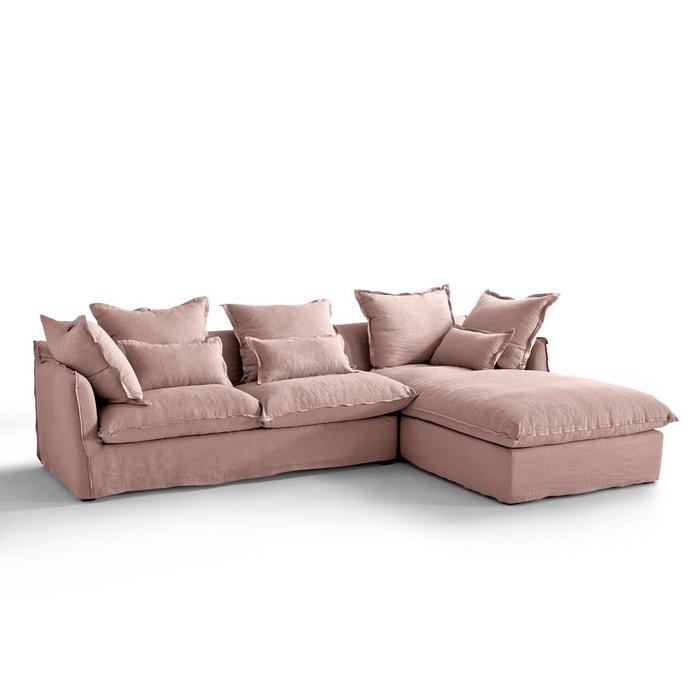 Canapé d'angle fixe en lin froissé, bultex Odna - La Redoute Intérieurs