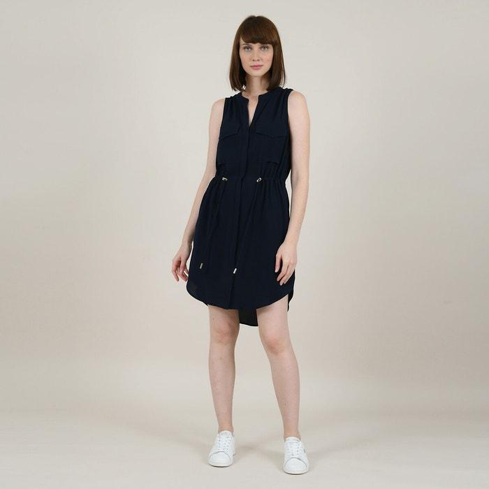 Wonderbaarlijk Korte jurk met zakken, aantrekbaar aan de taille blauw Molly CH-95