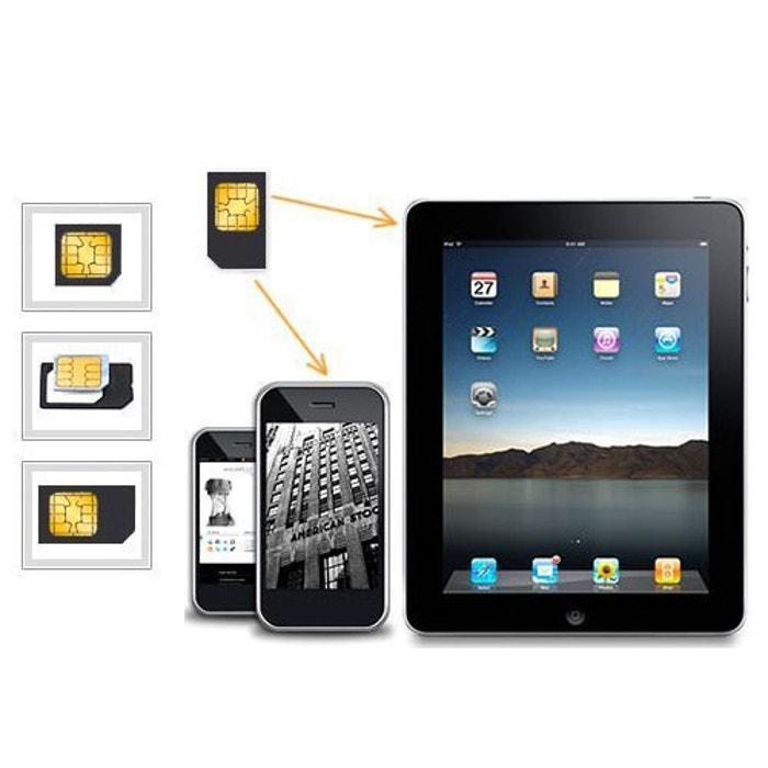 Adaptateur Carte Sim Pour Micro Sim Smartphone Android Tablette Ipad Format Sim Blanc Yonis La Redoute