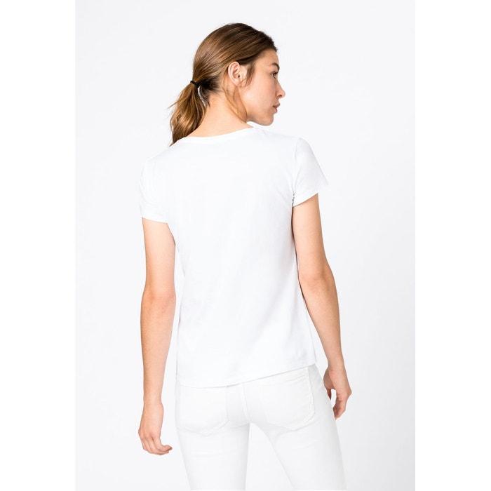 T shirt orné d'un imprimé à petites perles en coton bio