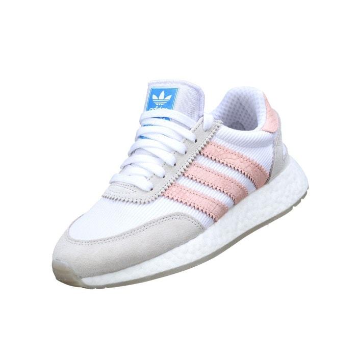 Basket basses à lacets blanc rose Adidas   La Redoute
