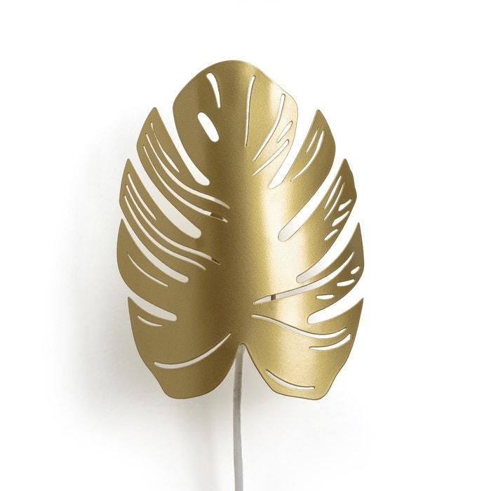 Monstera Leaf Wall Light Shade Brass La Redoute Interieurs La Redoute
