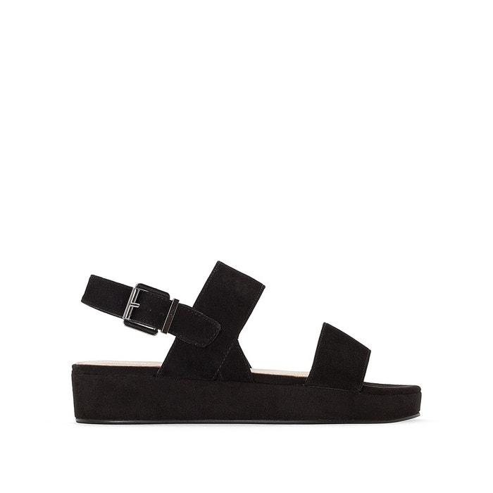 Sandales cuir suède bento noir Jonak Les Dernières