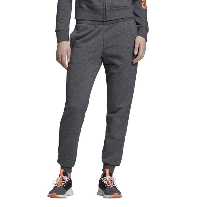 Jogginghose essentials linear logo dunkelgrau meliert Adidas