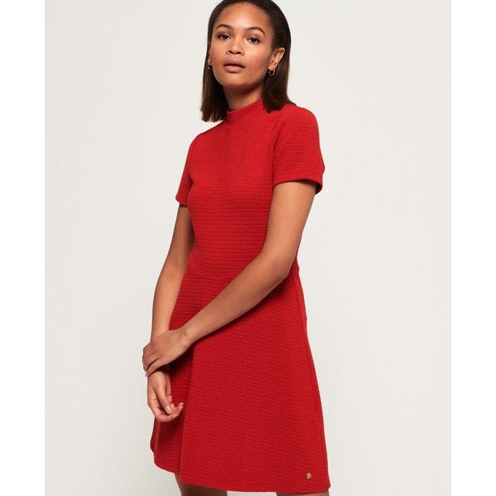 Robe texturée nanette rouge cerise Superdry   La Redoute