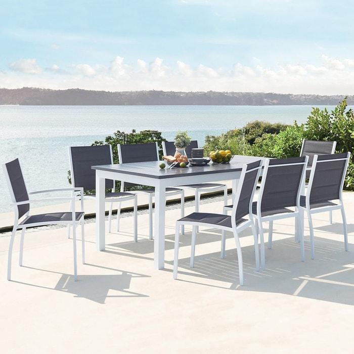 Salon de jardin extensible en aluminium 8 assises en ...