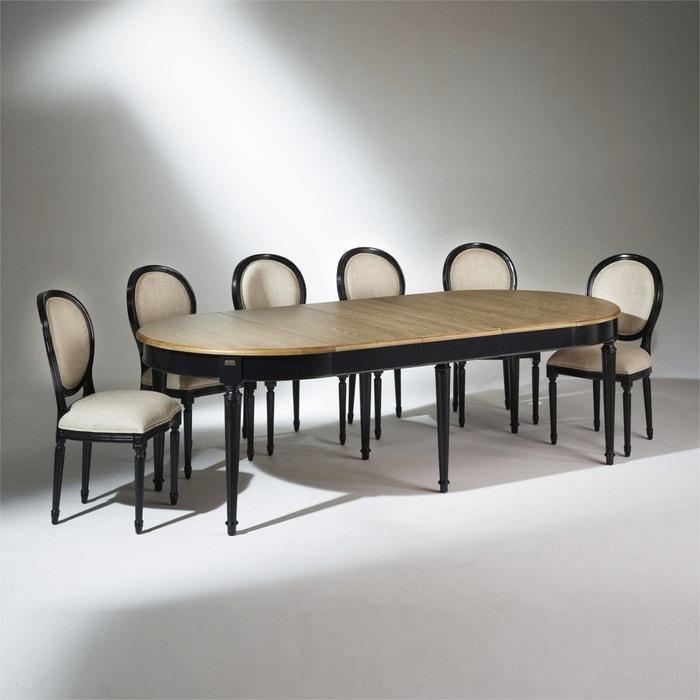 Table Salle A Manger Florence Extensible 4 A 12 Couverts Patine Antiquaire Noire Robin Des Bois La Redoute