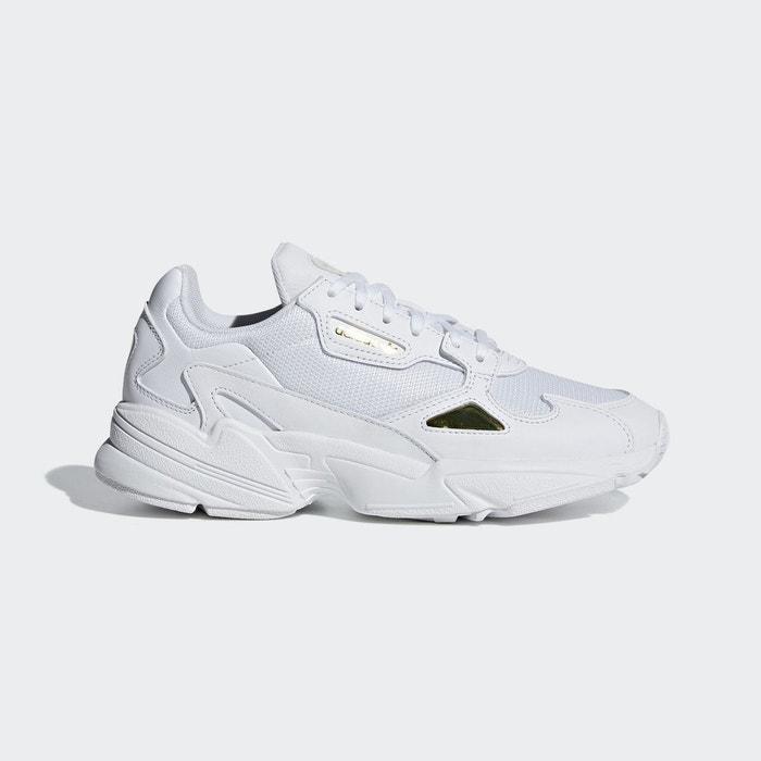 adidas Originals Falcon Baskets Blanc et bleu marine Blanc