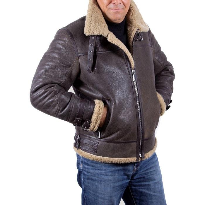 Blouson cuir mouton retourné pilote bombardier marron Fashion Cuir | La  Redoute
