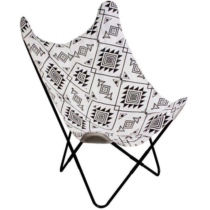 Conception innovante 212f9 e5edd Fauteuil papillon ethnique noir et blanc noir The Concept ...