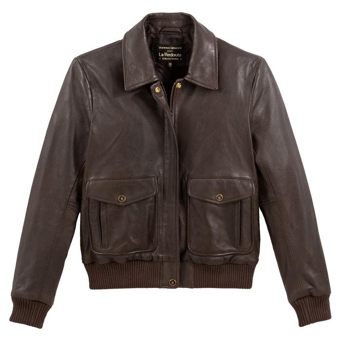 Leather jacket chocolate Vanessa Seward X La Redoute