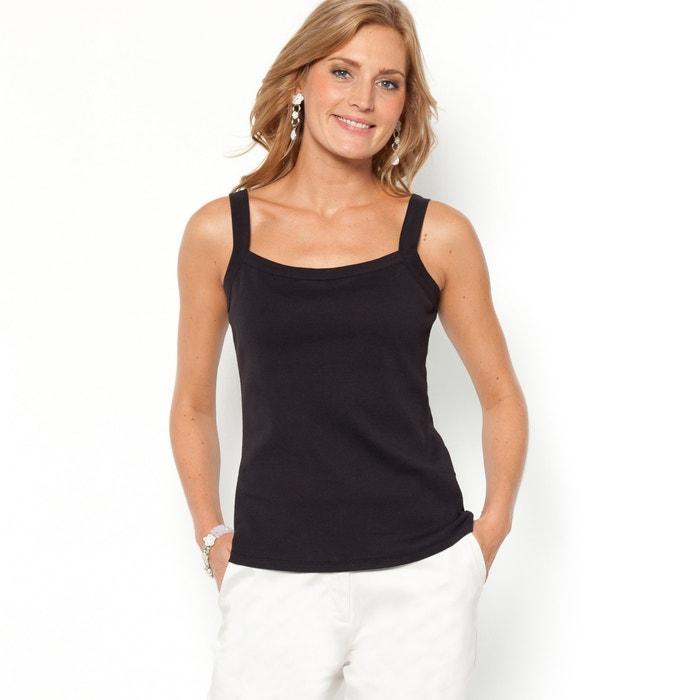 Pure Combed Cotton Vest Top Anne Weyburn La Redoute