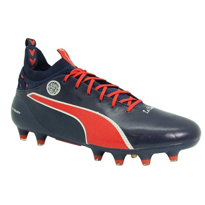 Chaussures football cuir evotouch pro verratti fg bleu Puma