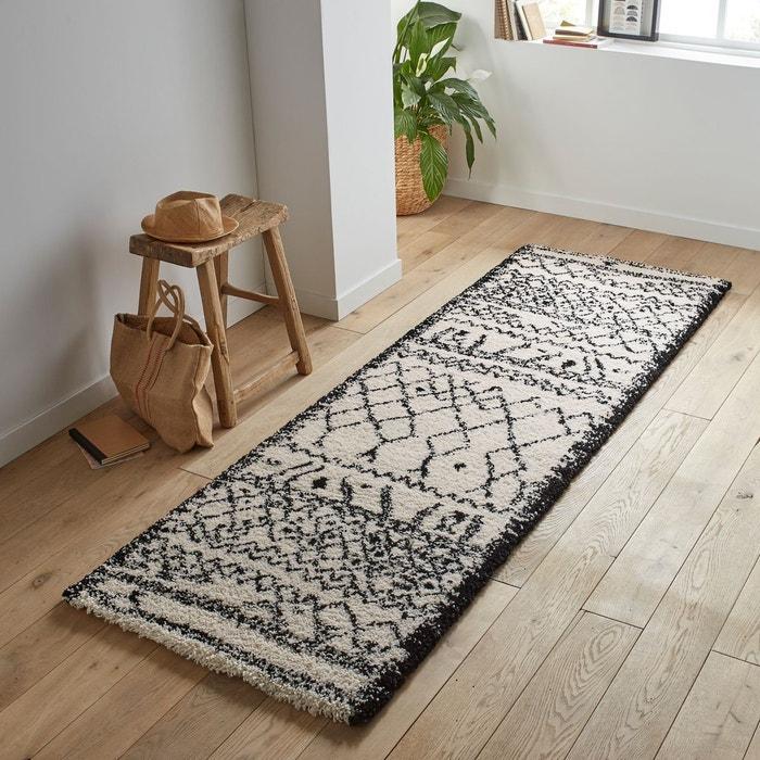Tapis De Couloir Style Berbere Afaw Noir Blanc La Redoute