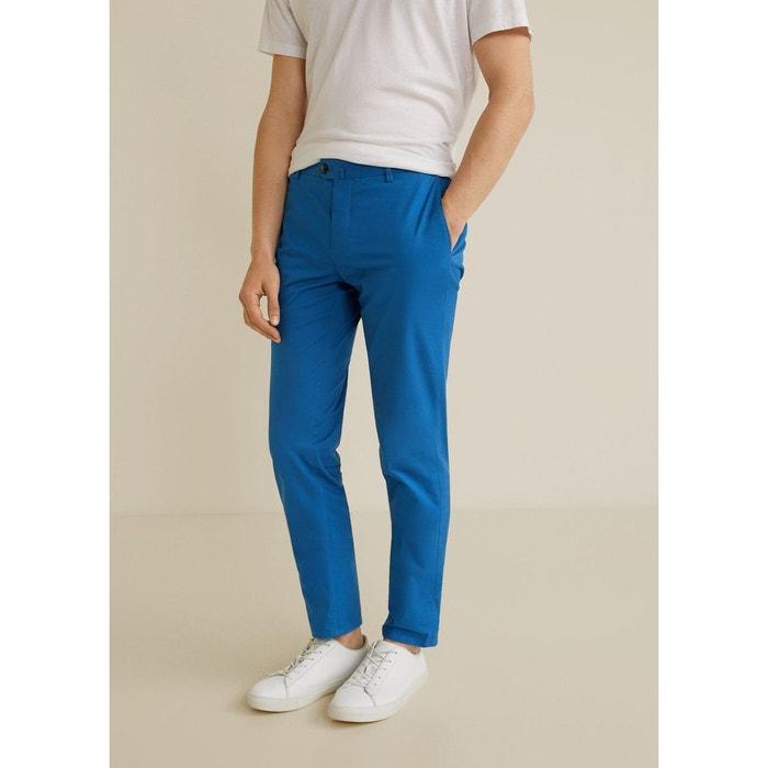 Mango Pantalon chinos turquoise style décontracté