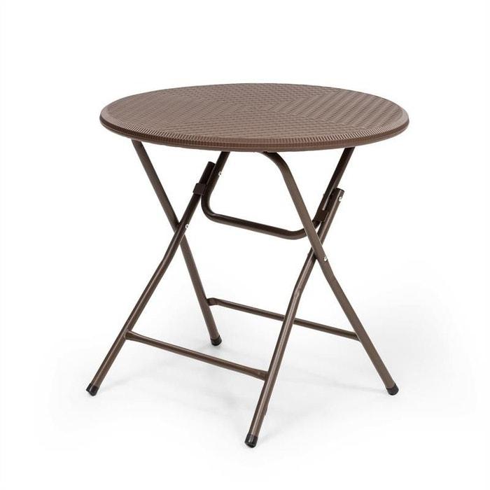 Table pliante de jardin burgos round pour 4 personnes ...