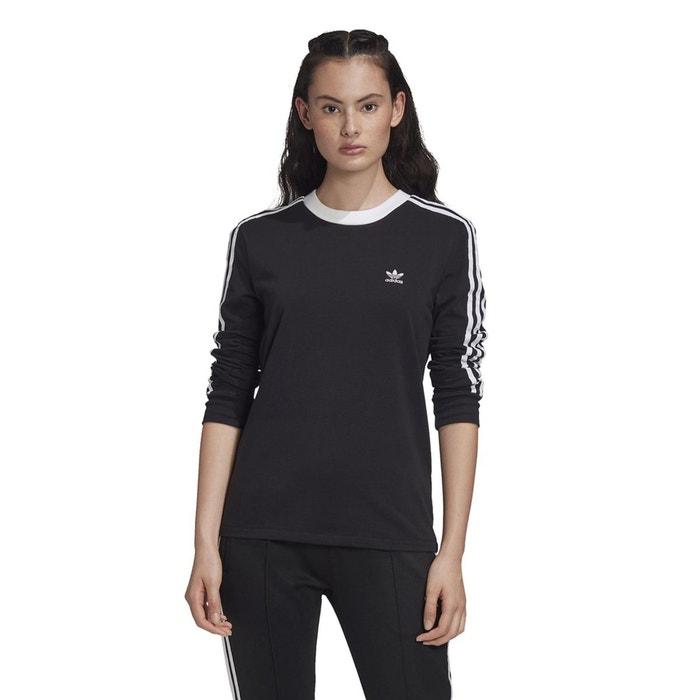 T shirt originals 3 stripes manches longues noir Adidas