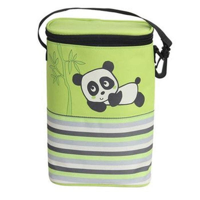 PREMAMAN Sac isotherme 'Panda' pour deux biberons Prémaman