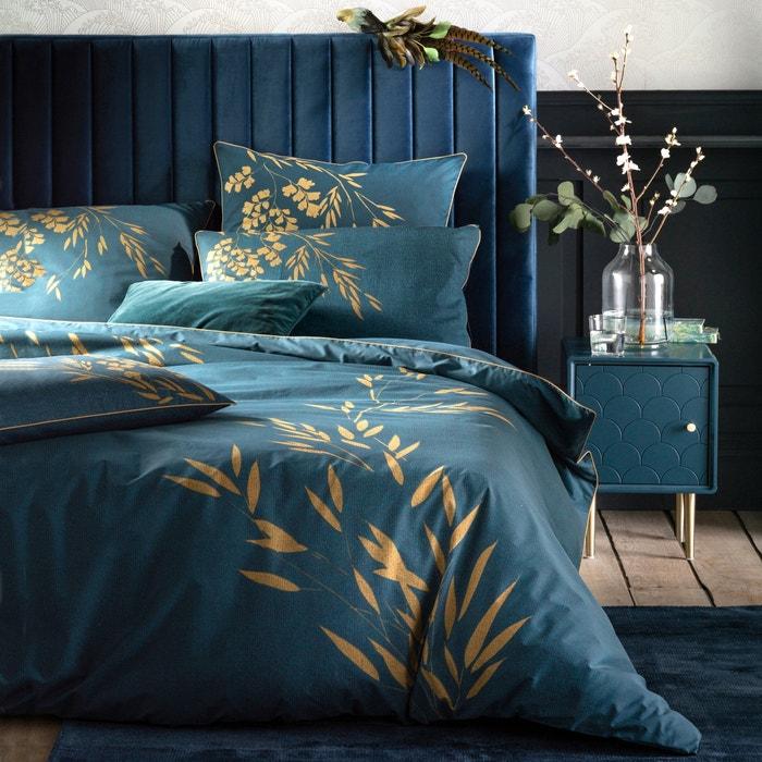 Copripiumino 180x200.Izumi Duvet Cover In Cotton Percale Blue Print La Redoute